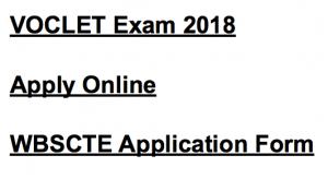 voclet 2018 application form exam notification wbscte webscte.org examination form vocational
