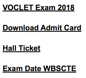wbscte voclet admit card 2018 download hall ticket exam date wbscte www.webscte.org