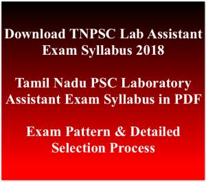 tnpsc laboratory assistant exam syllabus 2018 download pdf examination pattern physics chemistry general studies tamil nadu psc selection process