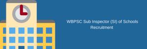 wbpsc sub inspector recruitment