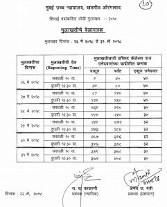 bhc peon aurangabad interview viva voce schedule 2018