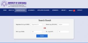 gour banga university result 2018 check online exam merit list publishing date marksheet west bengal