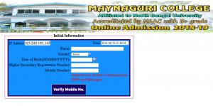 maynaguri college merit list 2018 admisison online form fill up