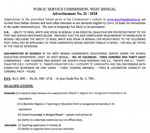 wbpsc-sub-inspector-of--recruitment-notification-2018-300x267 Obc Application Form Download West Bengal on tourist spot, detailed map, city map, tourist place, tourism map, river map, railway map, physical map,