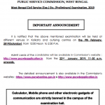 wbcs 2019 admit card download preliminary exam date postponed