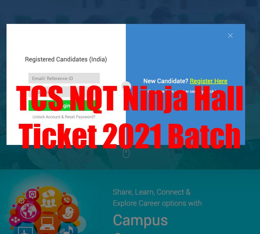 tcs nqt ninja 2021 batch hall ticket download online - nextstep tcs