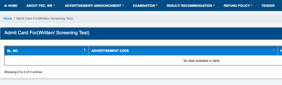 wbpsc ae admit card downloading window 2021